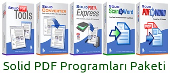 Solid PDF Programları Paketi (5 Adet)