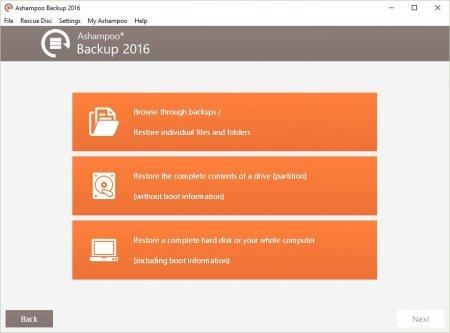 Ashampoo Backup 2016 v10.01 Türkçe