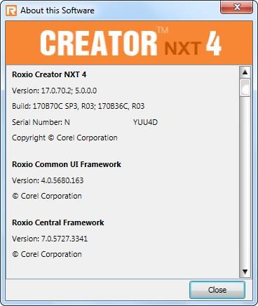 Roxio Creator NXT 4 v17.0.70.2 SP3