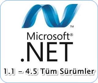 Net Framework v1.1 - v4.5 Tüm Sürümler