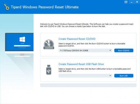 Tipard Windows Password Reset Platinum / Ultimate v1.0.8