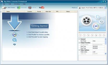 Any Video Converter Professional v6.0.5 Türkçe
