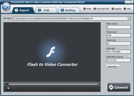 ThunderSoft Flash to Video Converter v2.4.1.0