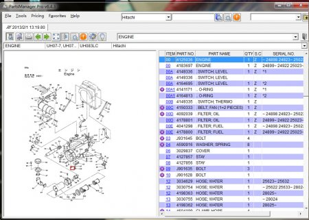 Hitachi Parts Manager Pro v6.5.5