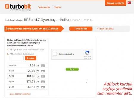 Turbobit Reklamları Engelleme - Önemli Duyuru