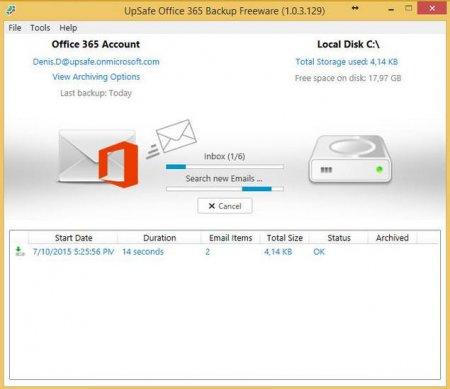 UpSafe Office 365 Backup v1.0.3.718