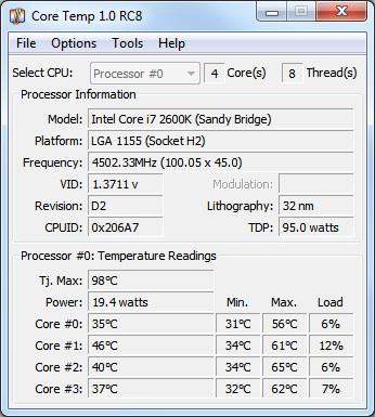Core Temp v1.5.1