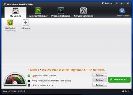 Wise Game Booster v1.38.47 Türkçe