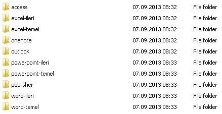 Microsoft Office 2010 Türkçe Görsel DVD Eğitim Seti