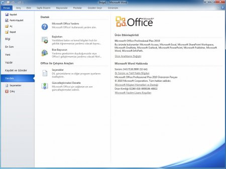 Microsoft Office 2010 Professional Plus SP2 Katılımsız