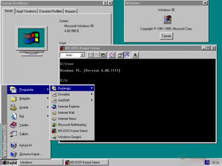 Windows 95 OSR2 Türkçe