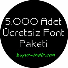 5.000 Adet Popüler Font Paketi