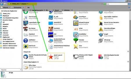 Windows 10 OS'de Manuel Quick Launch Oluşturma