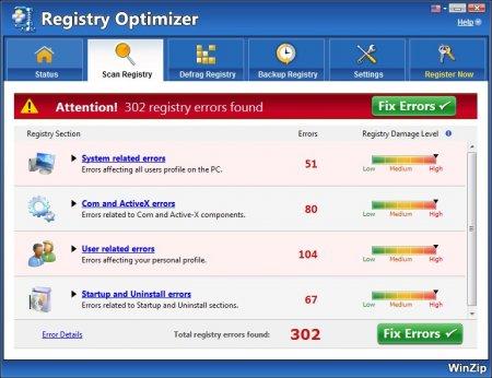 WinZip Registry Optimizer v4.19.4.4