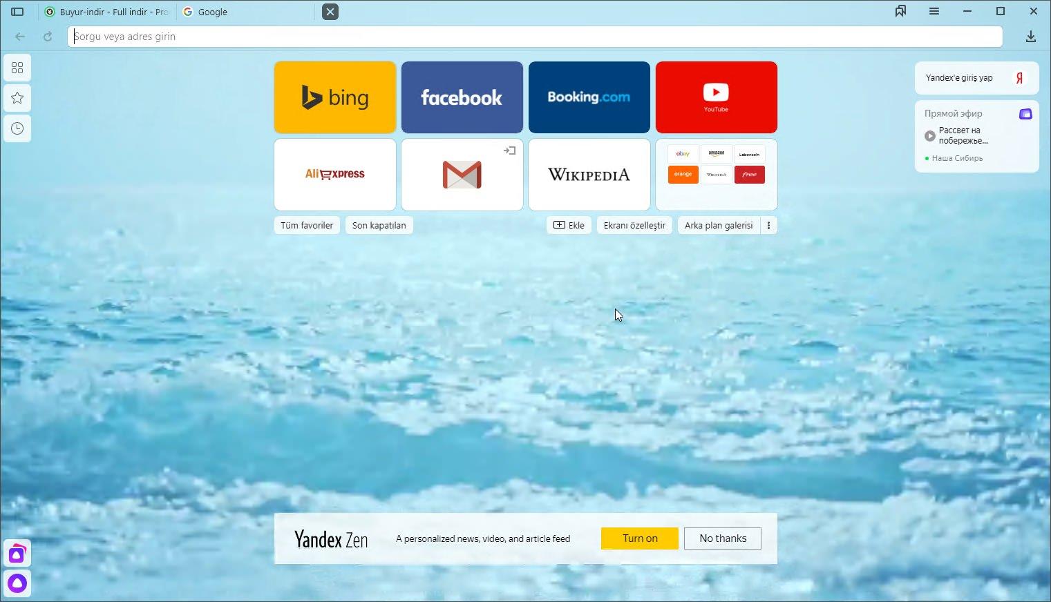 Yandex Browser v19 7 1 114 Türkçe